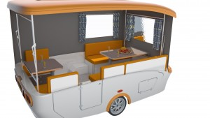 Interieur Paradiso vouwcaravan basis